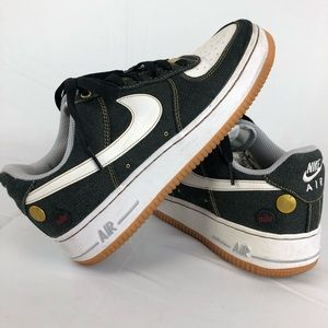 Nike Air Force One Denim Stock Men's 7.5 Shoes